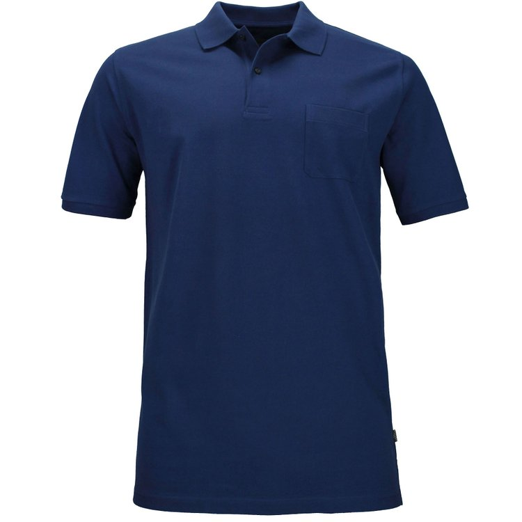 Kitaro Poloshirt in Übergröße - blau
