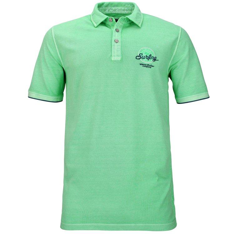 Kitaro Poloshirt im Washed-Look - grün