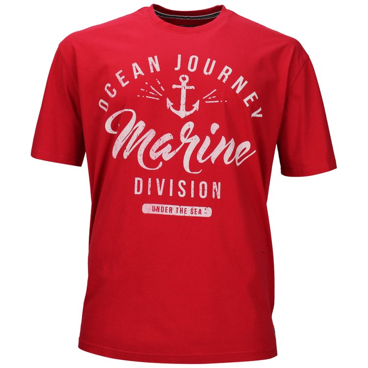 Maritimes T-Shirt von Redfield - rot