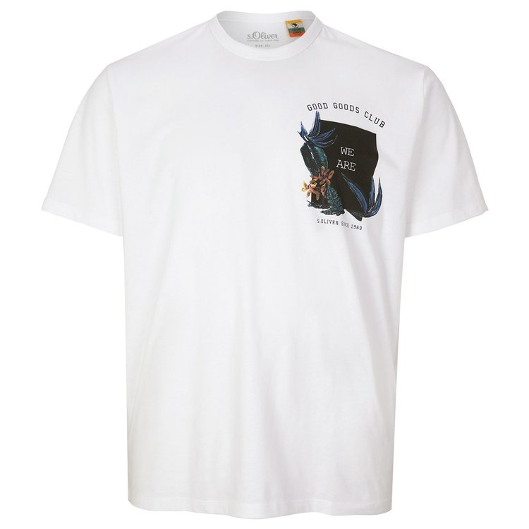s.Oliver T-Shirt mit floralem Print - weiß