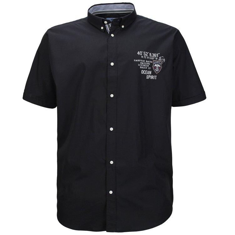 Kurzarmhemd in Übergröße, schwarz