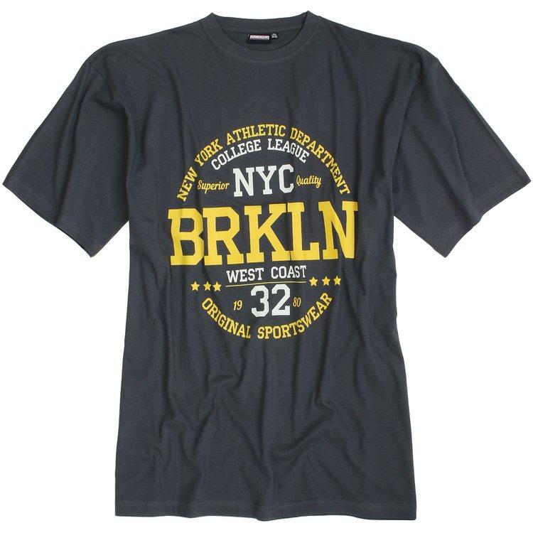 "Adamo T-Shirt mit ""BRKLN""-Print - anthrazit"