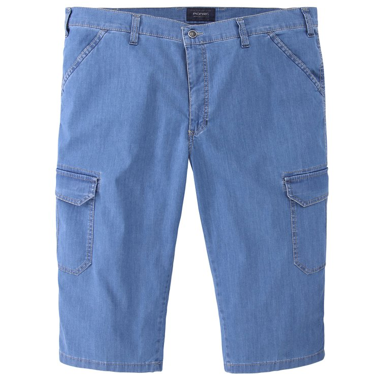 Pionier Cargo-Shorts in Jeans-Optik - blau