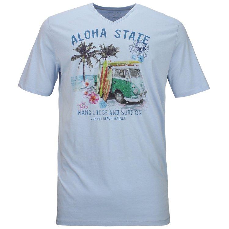 Kitaro T-Shirt extra lang - Aloha State - kentuckyblau