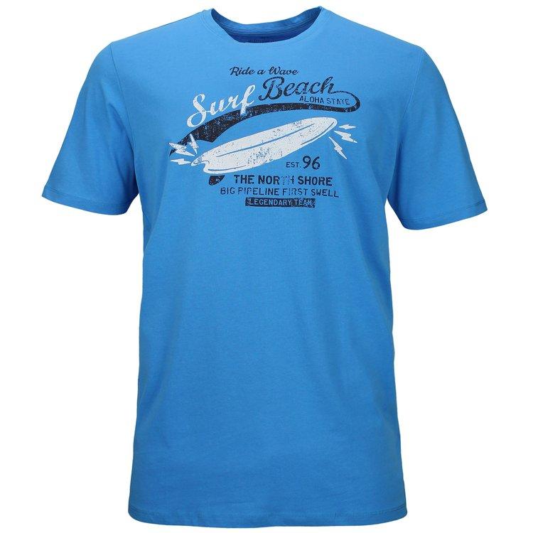 Kitaro T-Shirt extra lang - Surf Beach - malibu blau