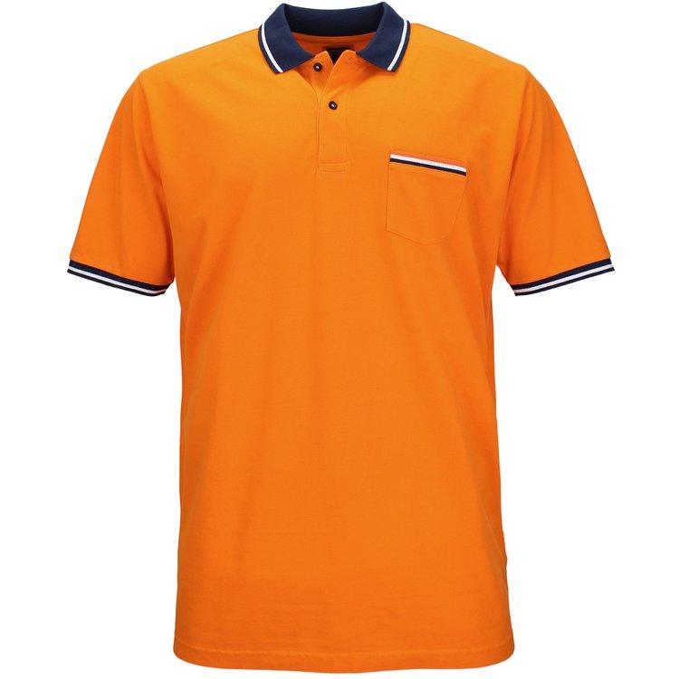 Kitaro Poloshirt mit Brusttasche - orange