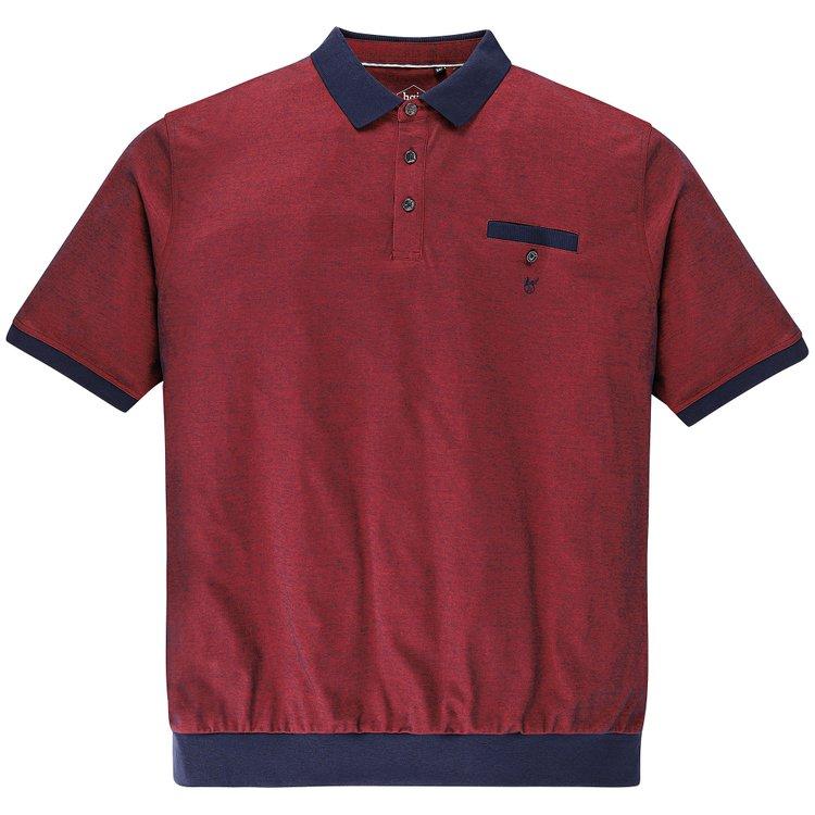 Hajo Poloshirt mit Bündchen - rot