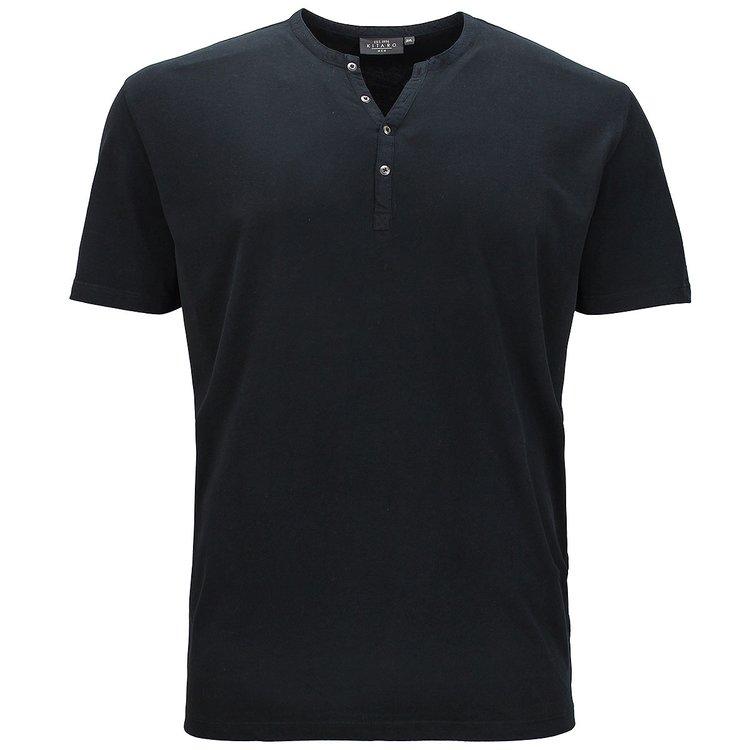 T-Shirt Übergröße Herren, schwarz