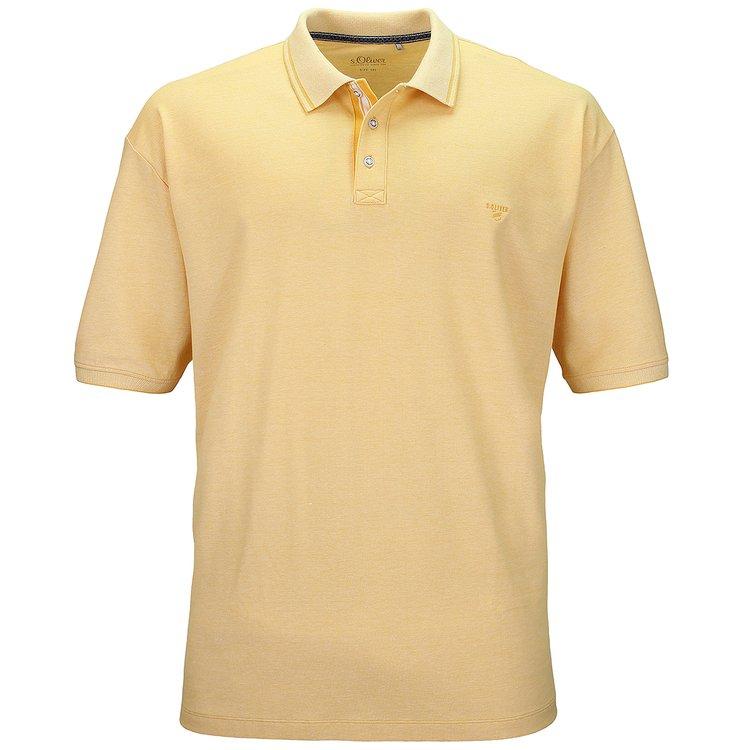 s.Oliver Poloshirt mit Elasthan-Anteil - gelb