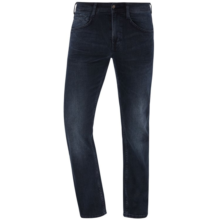 Mustang Jeans extra lang, Oregon Straight - dunkelblau im Used-Look