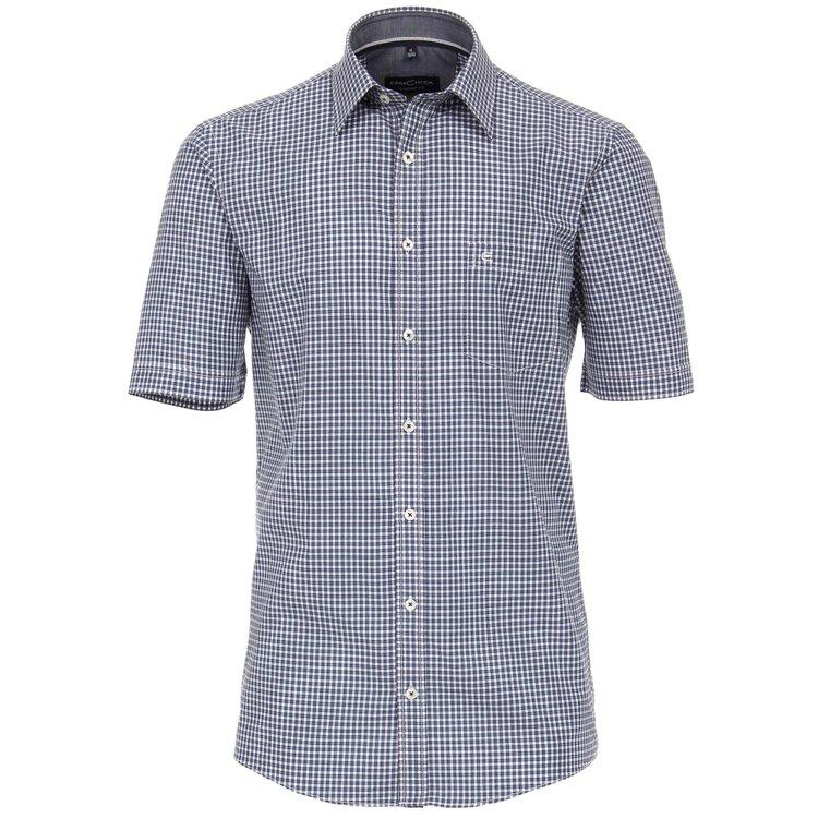 Kurzarm Hemd Übergröße, blau kariert
