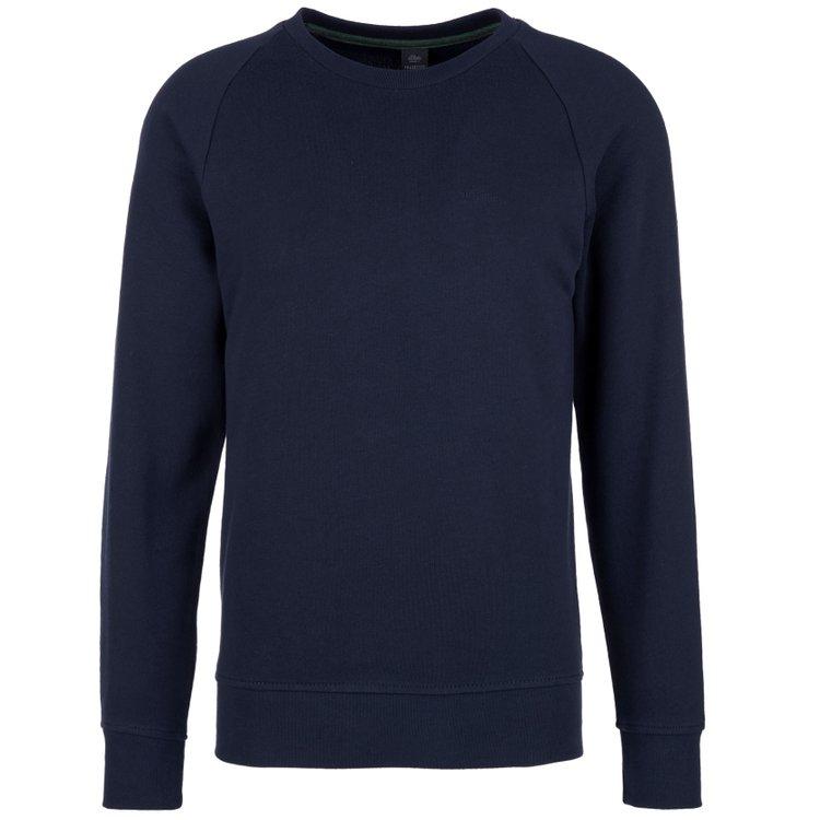 s.Oliver Sweatshirt extra lang - dunkelblau