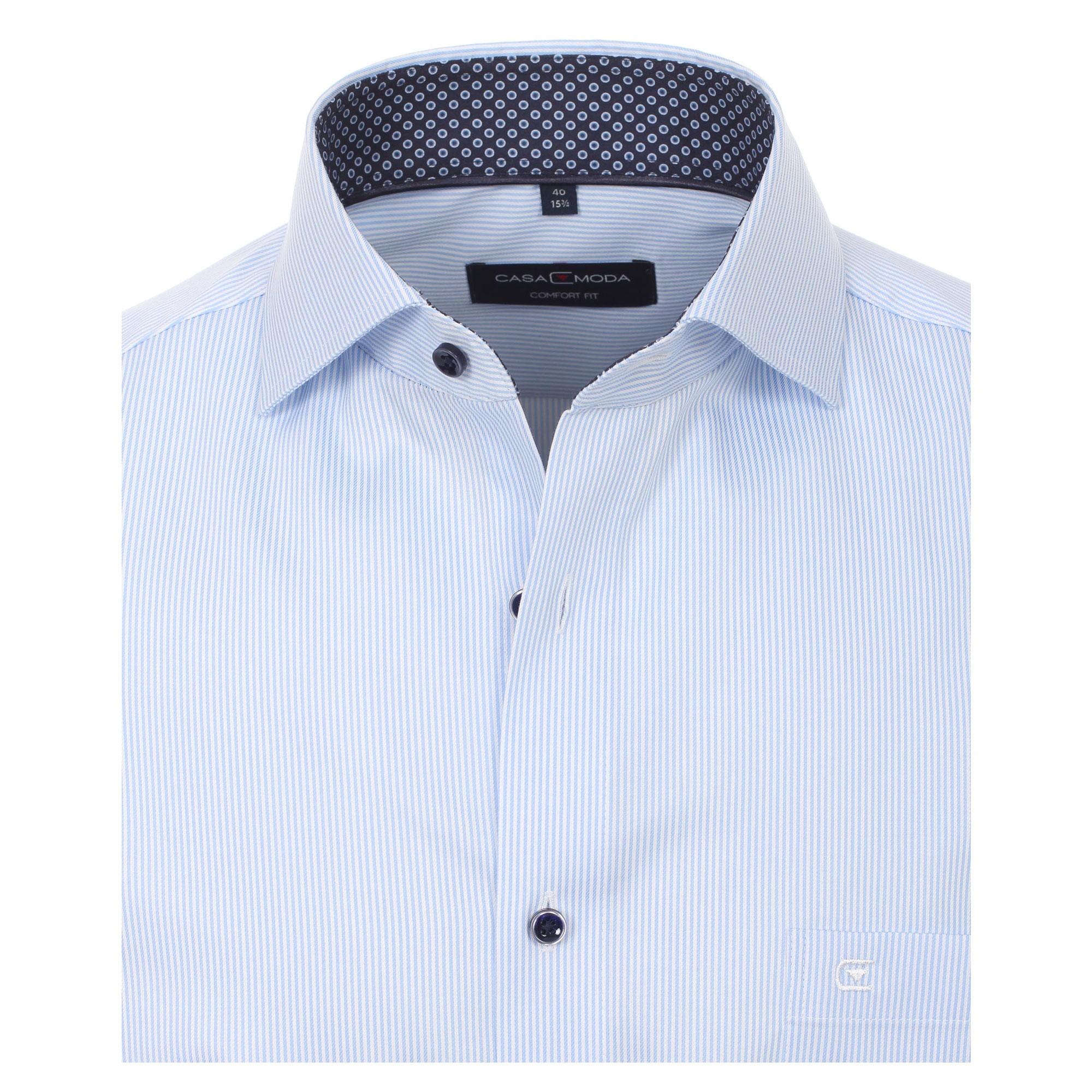 CASA MODA Kurzarmhemd Übergröße Herrenhemd Halbarmhemd Gestreift 5XL
