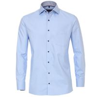 Casa Moda Hemd in Übergröße, hellblau strukturiert 001