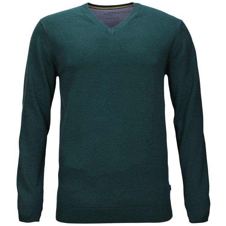 Kitaro Pullover extra lang, dunkelgrün