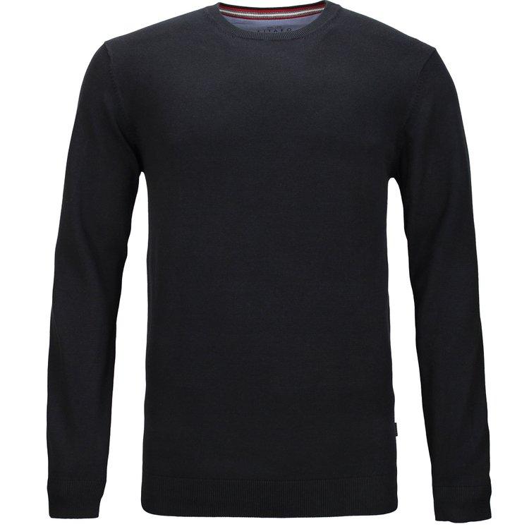 Kitaro Pullover extra lang, schwarz