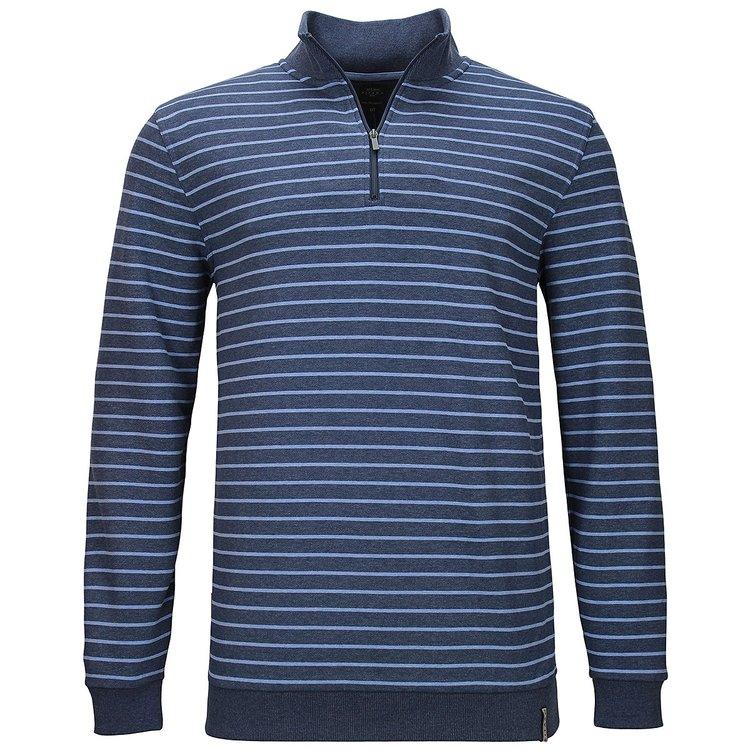 Sweatshirt extra langer Arm, blau gestreift