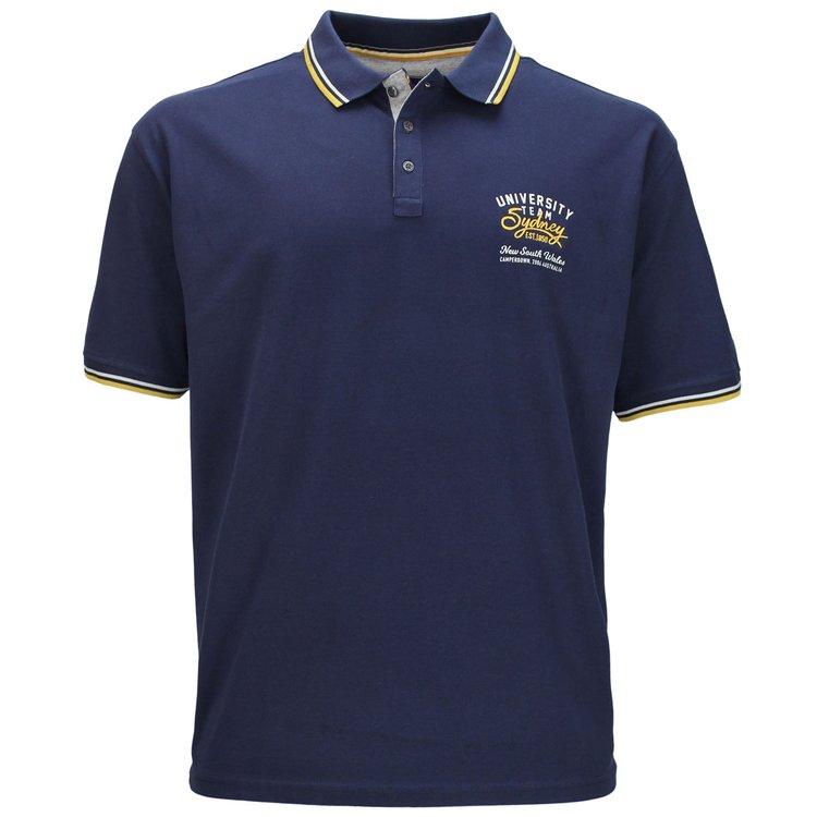 Redfield Poloshirt in Übergröße, dunkelblau