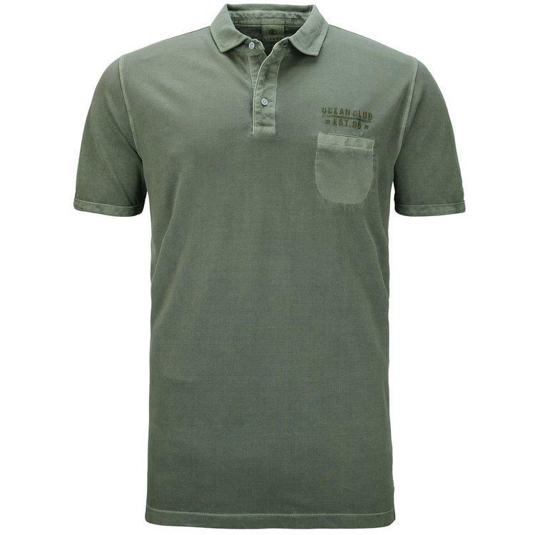 Poloshirt extra lang Herren, oliv