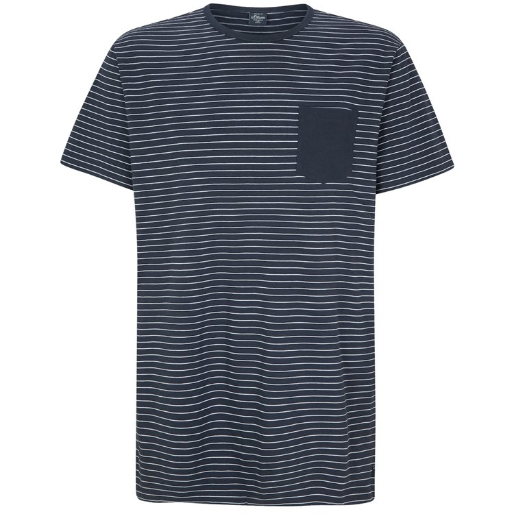s.Oliver T-Shirt extra lang, blau gestreift