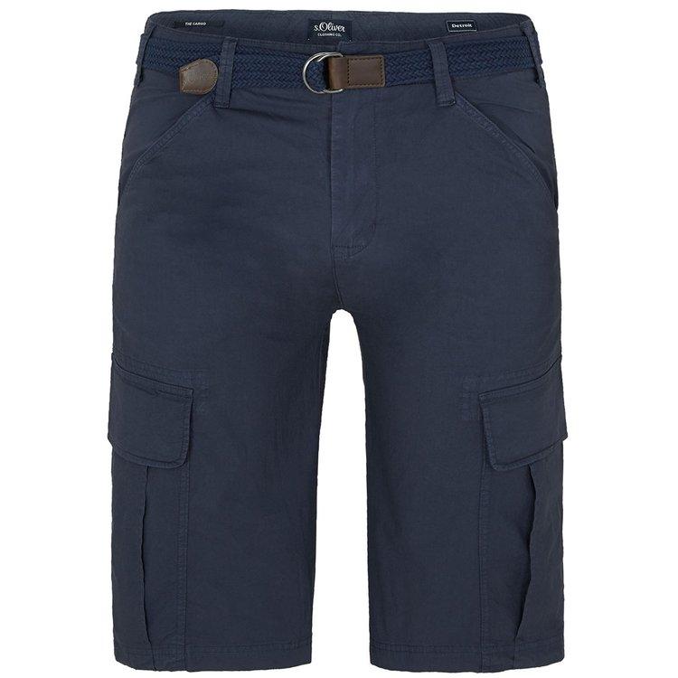 s.Oliver Cargo-Shorts in Übergröße, dunkelblau