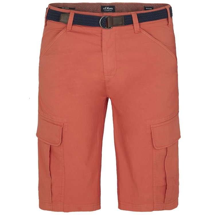 s.Oliver Cargo-Shorts in Übergröße, burnt orange