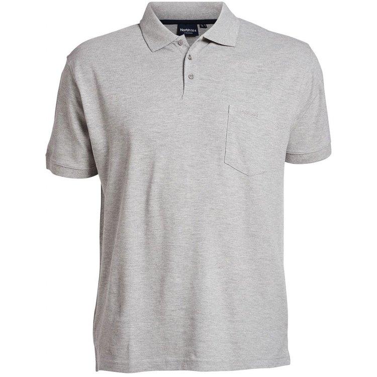 Poloshirts Übergrößen, grau melange