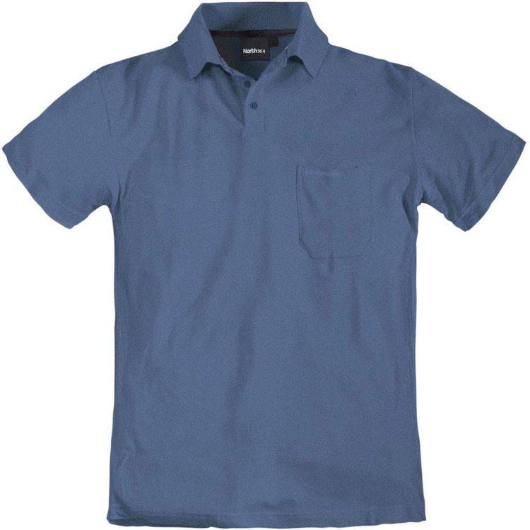 Poloshirt in Übergrößen, blau melange