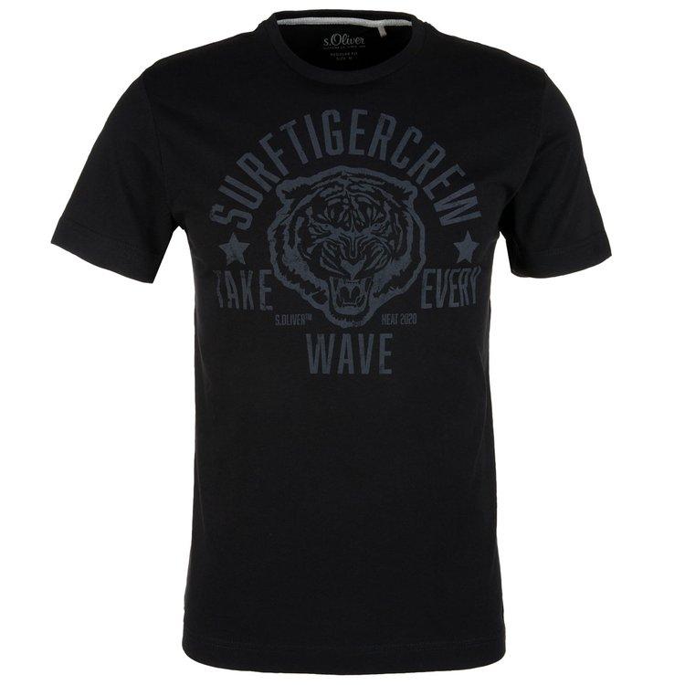 T-Shirts extra lang in schwarz