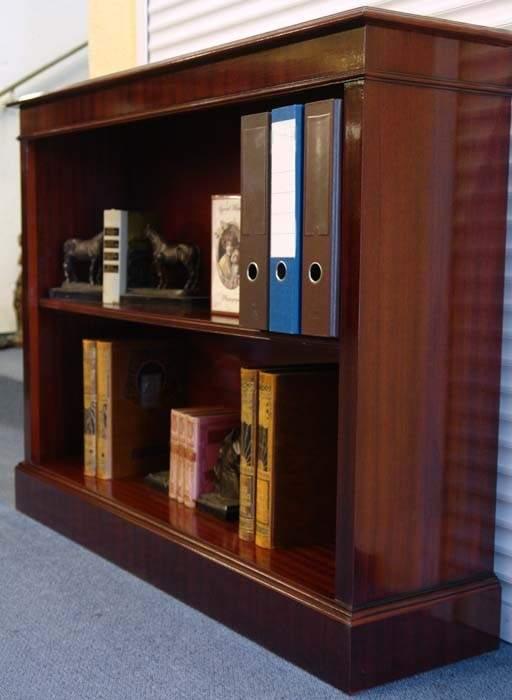 Regal Bücherregal Büro Mahagoni 120cm antik Stil DIN A4 Ordner (1076) – Bild 3