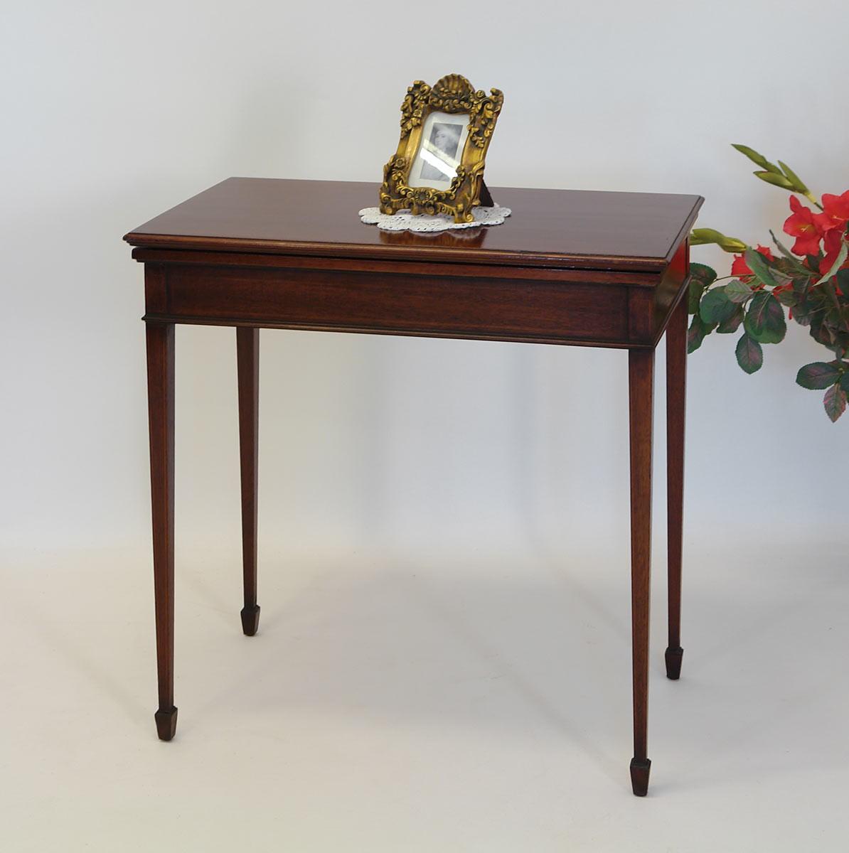 spieltisch beistelltisch konsole aus mahagoni englischer stil um 1900 1177 m bel tische. Black Bedroom Furniture Sets. Home Design Ideas