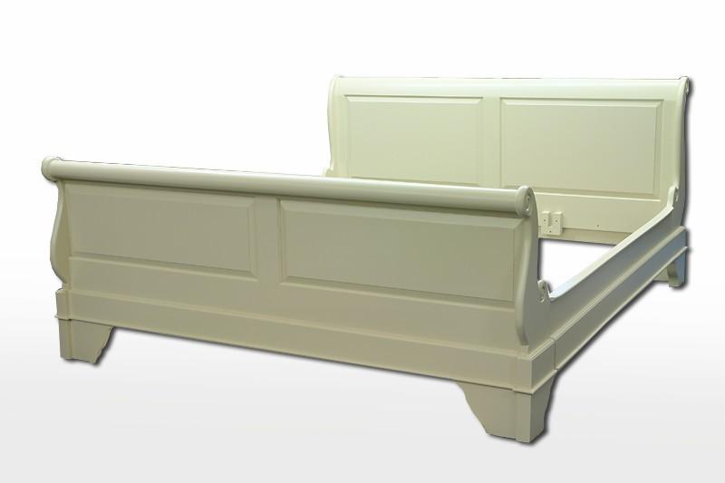 Bett Doppelbett 200 x 220cm in cremeweiß Massivholz (1347) – Bild 1