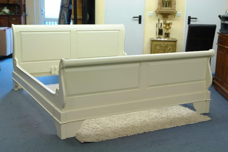 Bett Doppelbett 200 x 220cm in cremeweiß Massivholz (1347) – Bild 5