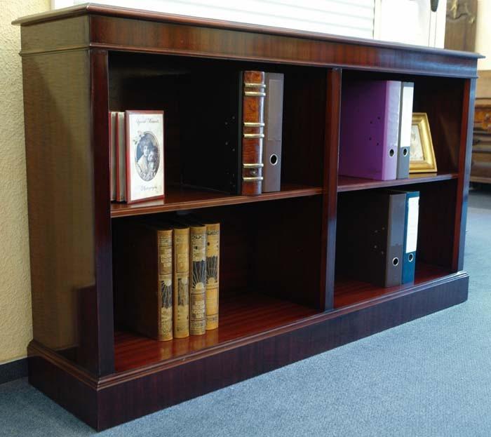 Regal Bücherregal BÜRO Mahagoni 1,60m breit wie antik DIN A4 Ordner (1400) – Bild 2