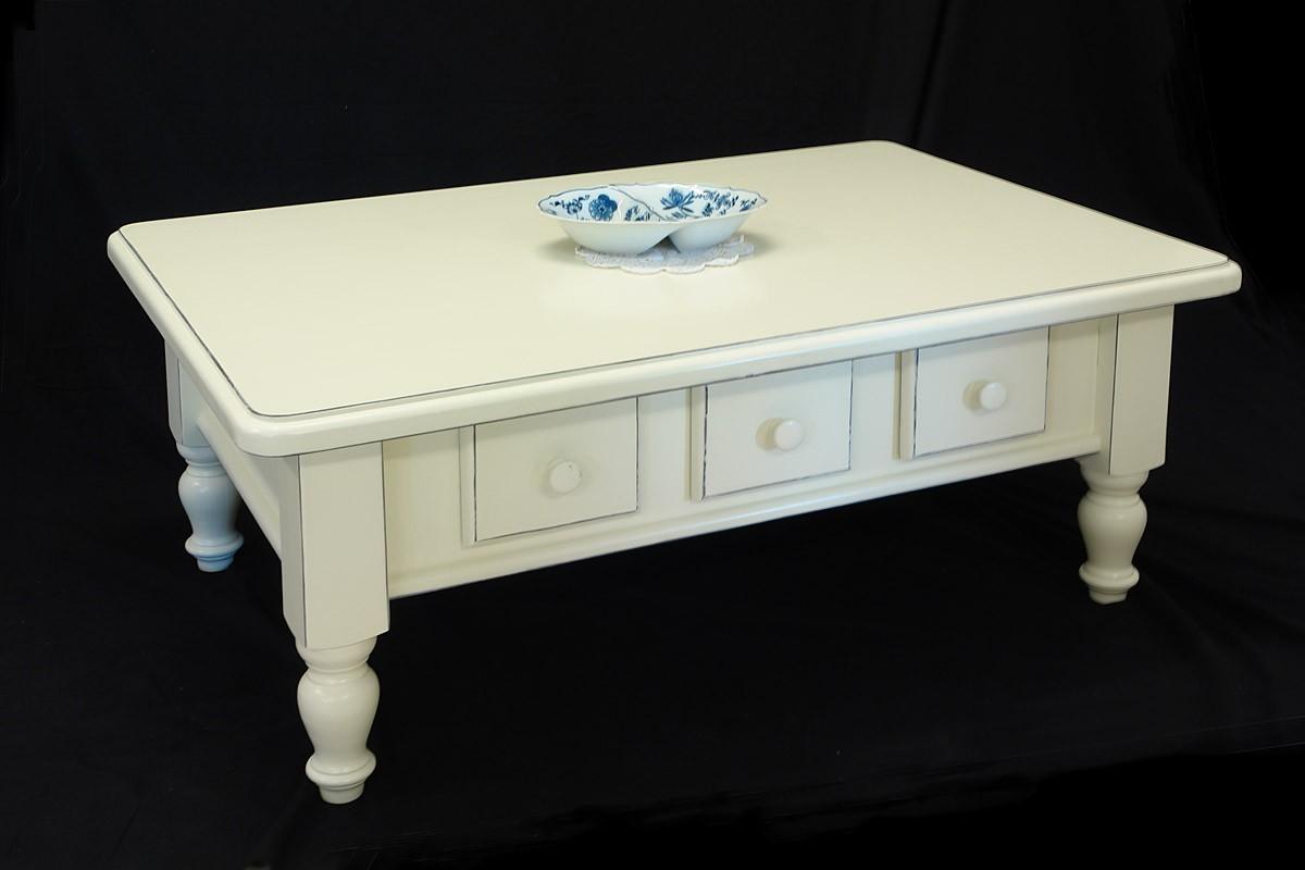 couchtisch tisch 120 x 80 wohnzimmertisch cremewei im landhausstil 1623 tische couchtische. Black Bedroom Furniture Sets. Home Design Ideas