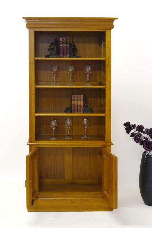 Regal Schrank Bücherregal im antiken Stil Massiv Mahagoni (2100) – Bild 2