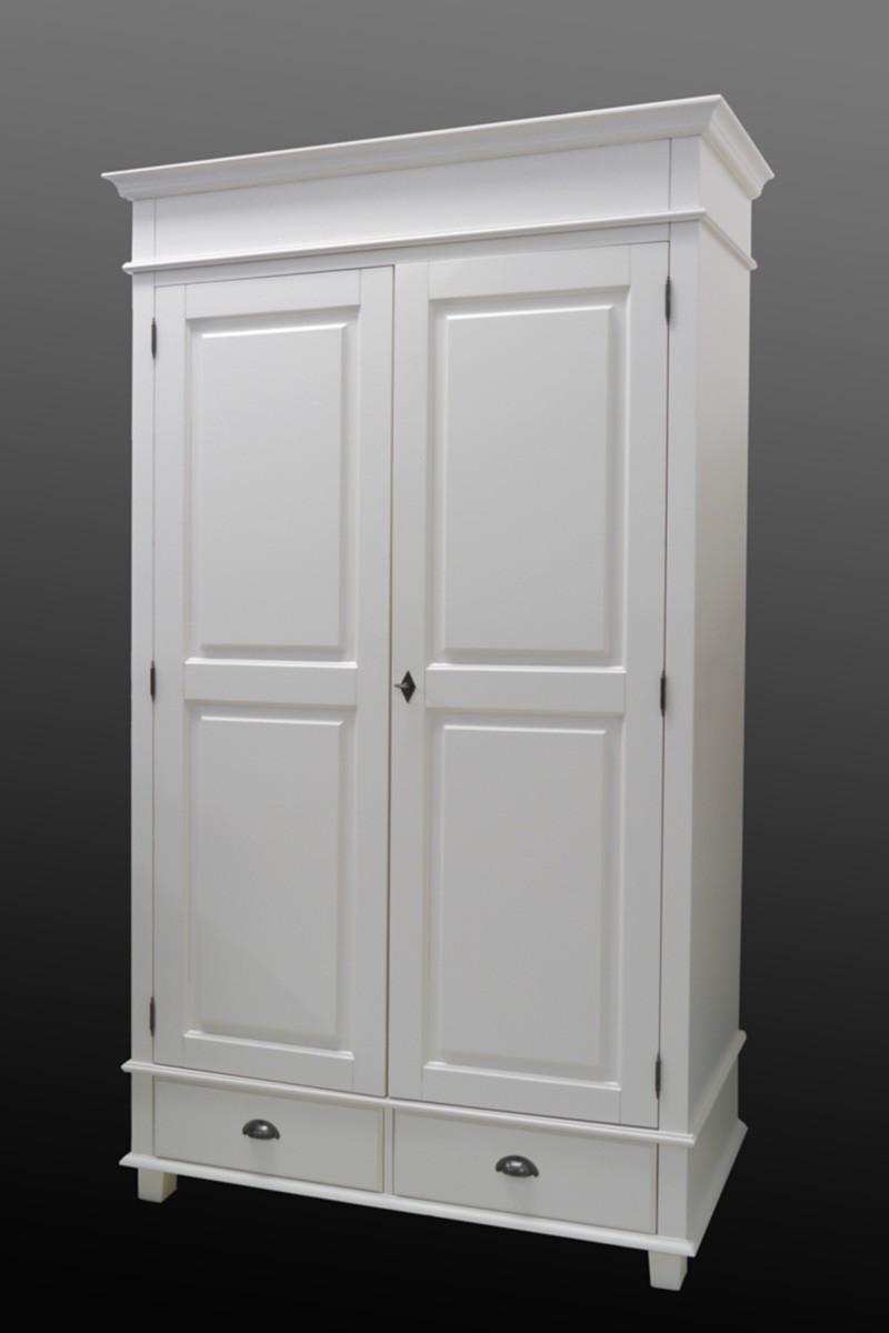 kleiderschrank schrank dielenschrank cremewei im landhausstil b 120 cm 2233 m bel schr nke. Black Bedroom Furniture Sets. Home Design Ideas