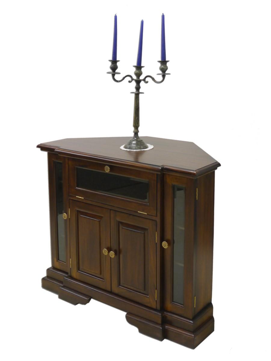 tv eckschrank tv schrank aus massivholz im nussbaumfarbton antik stil 2366 m bel kommoden und. Black Bedroom Furniture Sets. Home Design Ideas