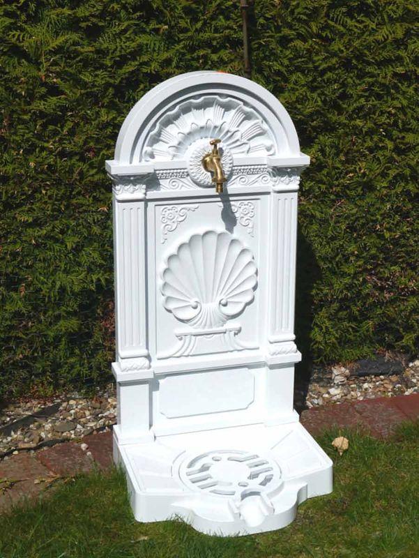 Standbrunnen Brunnen Gartenbrunnen Gusseisen weiß (2536) – Bild 1
