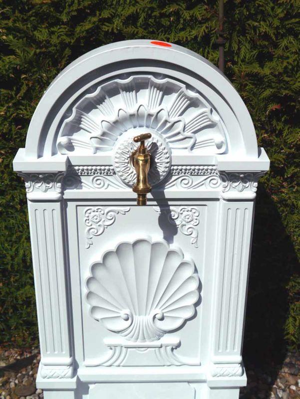 Standbrunnen Brunnen Gartenbrunnen Gusseisen weiß (2536) – Bild 2