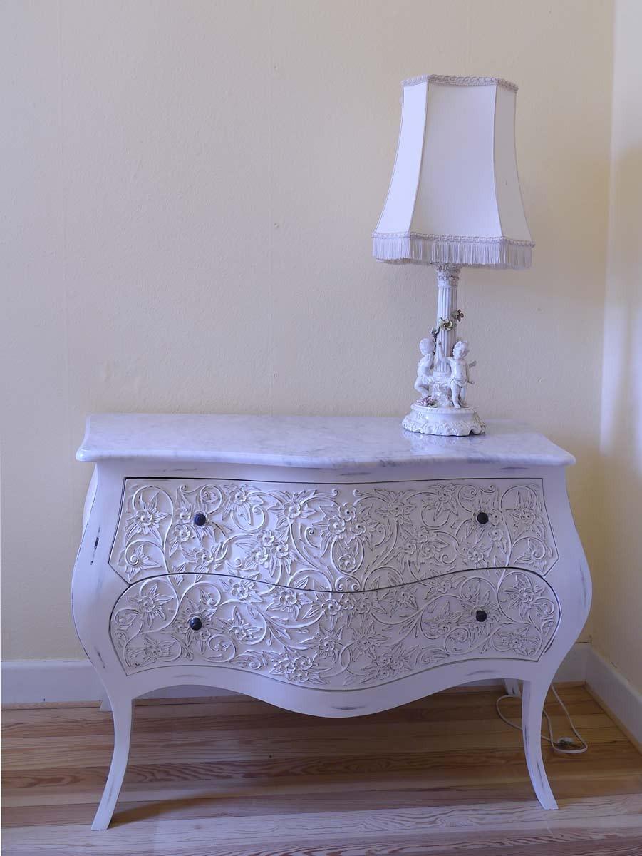 kommode anrichte sideboard im barock stil massivholz white wash shabby chic 2649 kommoden und. Black Bedroom Furniture Sets. Home Design Ideas