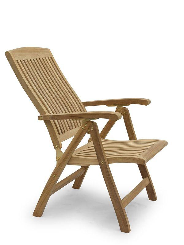 Gartenstuhl Hochlehner Gartenmöbel  aus massiven Teak Holz (2717) – Bild 2