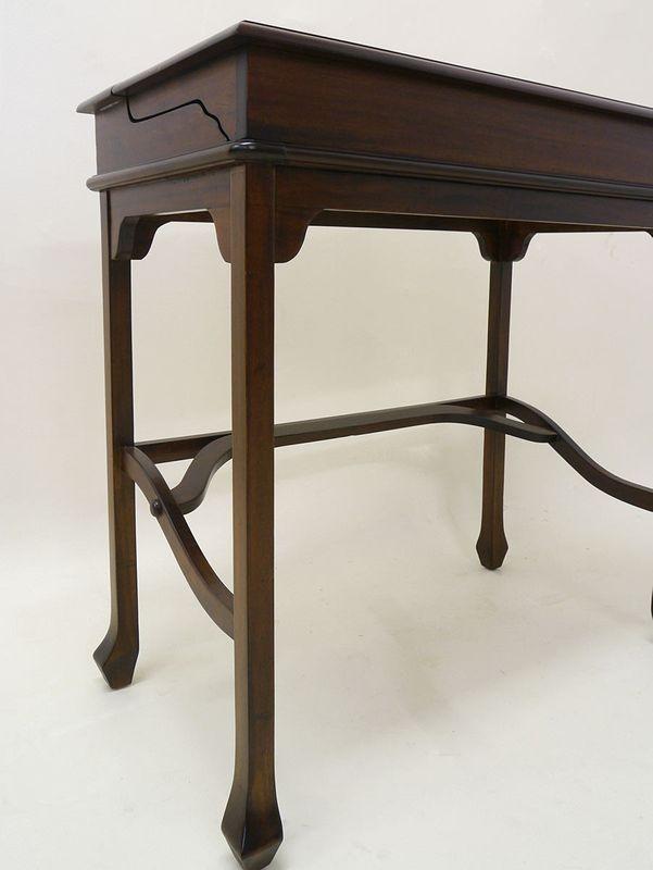 Sekretär Schreibtisch Computertisch aus Massivholz Nussbaum-Farbton (2915) – Bild 3