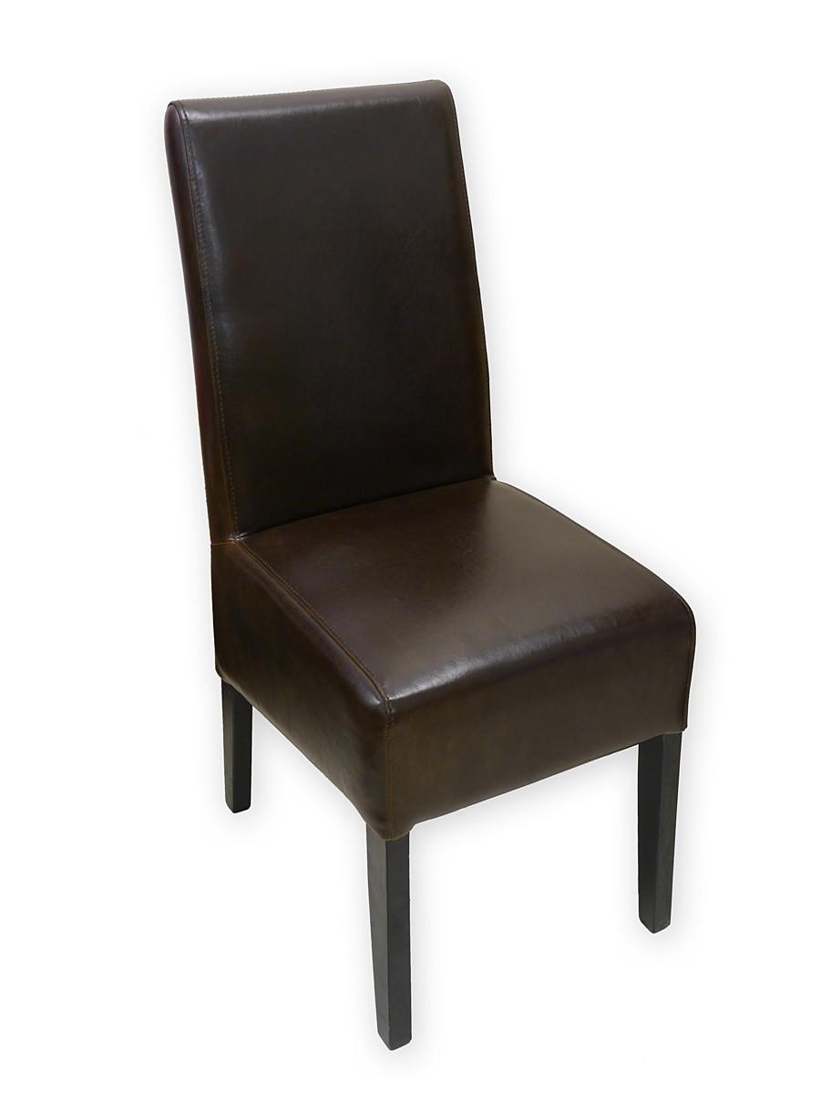 stuhl lehnstuhl sitzm bel mit braunem leder im zeitlosen. Black Bedroom Furniture Sets. Home Design Ideas