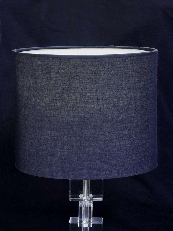Tischleuchte Tischlampe Leuchte mit Kristallständer + ovalen Lampenschirm (2968) – Bild 2