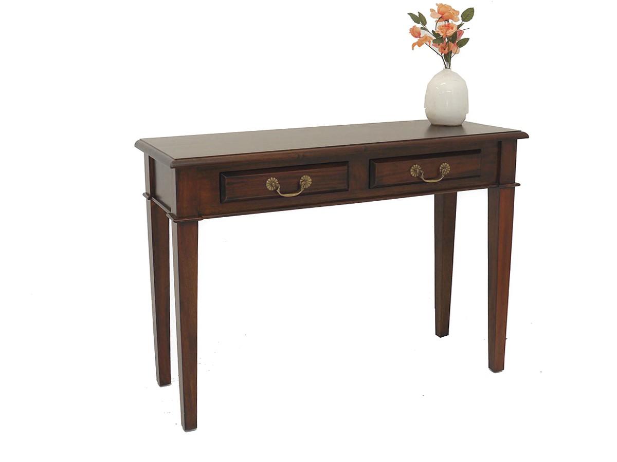 wandtisch wandkonsole tisch aus massivholz im englischen stil 2 schubladen 3223 m bel tische. Black Bedroom Furniture Sets. Home Design Ideas
