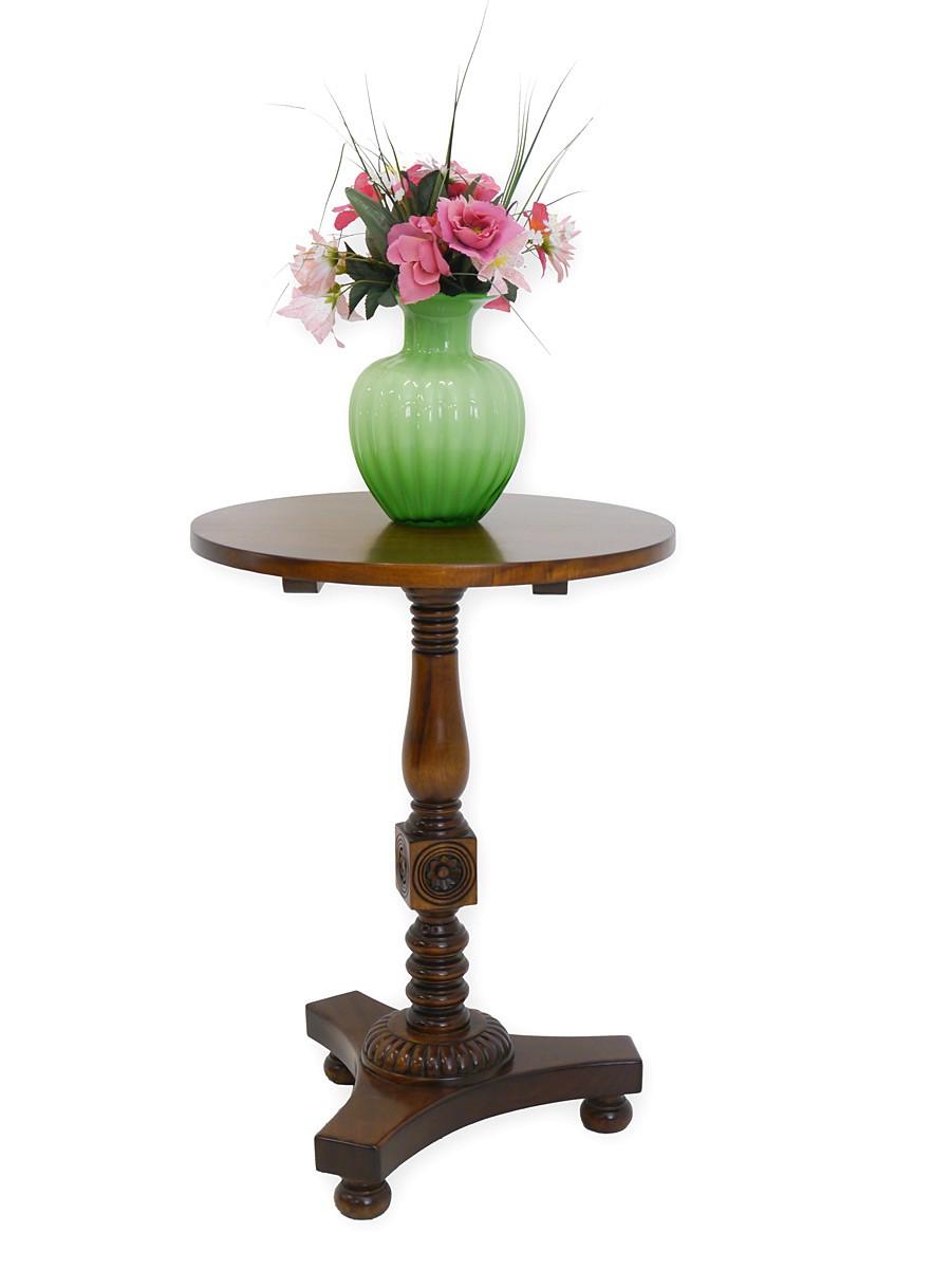 Beistelltisch telefontisch tisch rund im antiken stil for Beistelltisch nussbaum
