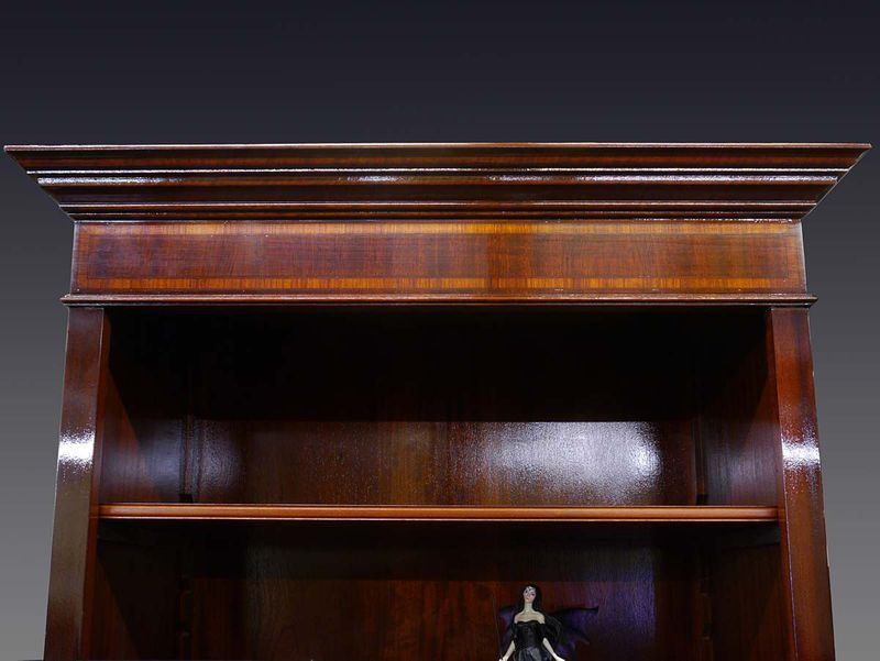 Bücherregal Regal Mahagoni für DIN A4 Ordner Schrank Bücherschrank DIN A4 (355) – Bild 2