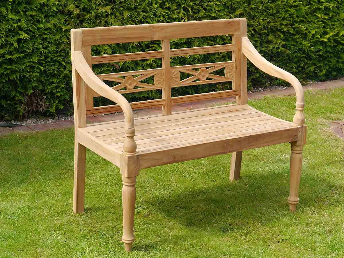 Gartenbank Bank 2-Sitzer Gartenmöbel aus massiven Teak Holz (3640 ...