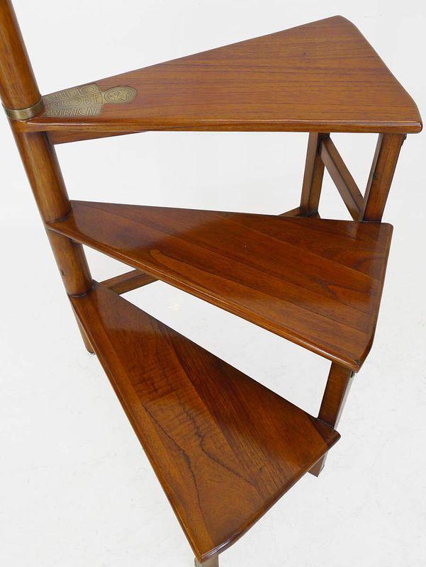 Bücherleiter Bibliotheksleiter Büchertreppe Mahagoni im Antik Stil (3675) – Bild 3